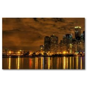 Αφίσα (chicago, πόλη, αρχιτεκτονική, σύννεφα)